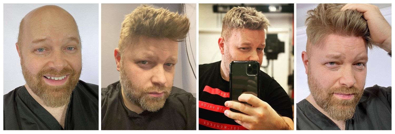 men's hair transformation