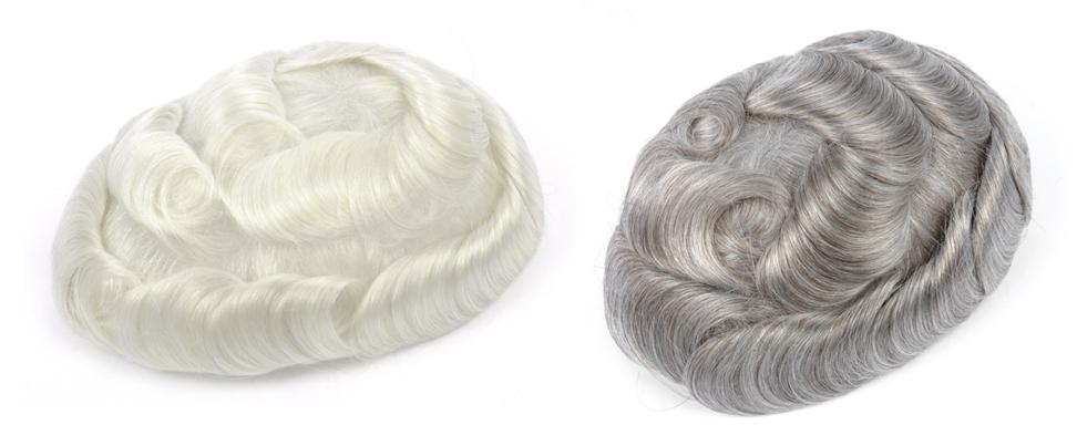 peluquín de pelo gris