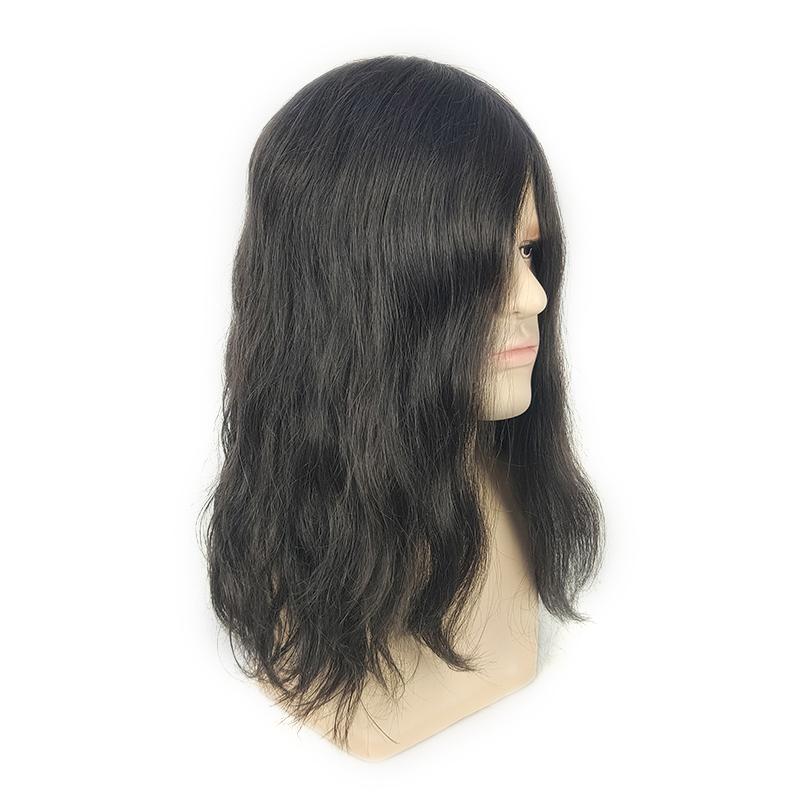 peluquín de pelo largo para hombres