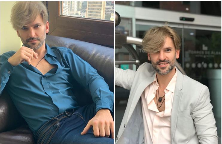 men's blonde wig