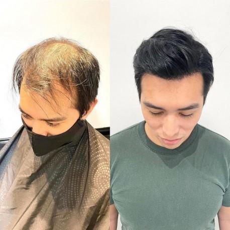 Mirage Toupee para hombre | Base de piel superfina completa | Elección de celebridades