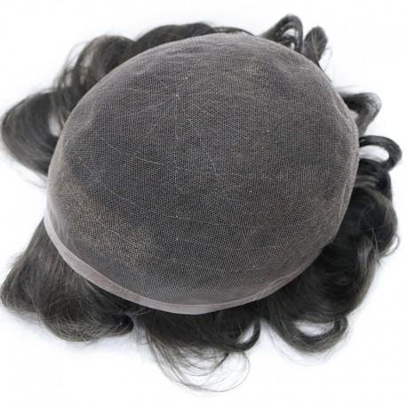 Hades Hair Unit para hombres en línea | Encaje alemán completo | Peinado de longitud media para hombres