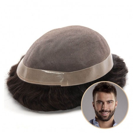 Lapetus Men's Hair Pieces Online   Durable Mono with Poly Coating All Around the Base   Economical Choice