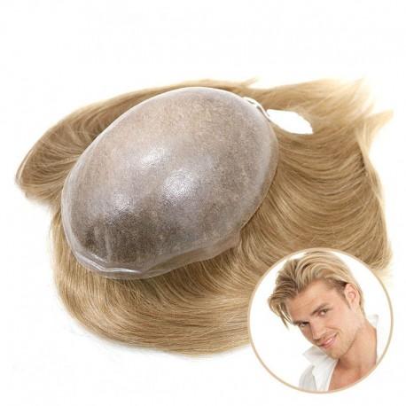 Tratamiento de adelgazamiento del cabello para hombres Cronus | Base de Polyskin completa | Cabello Europeo