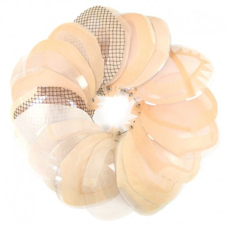 Anillo de muestras de construcción de base de piezas de cabello para hombres personalizados