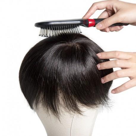 Peine de cerdas para el sistema del cabello de los hombres