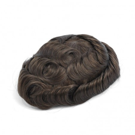 Ares Men's Non Surgical Hair Replacement | French Lace With Skin Around | Best for Daily Wear