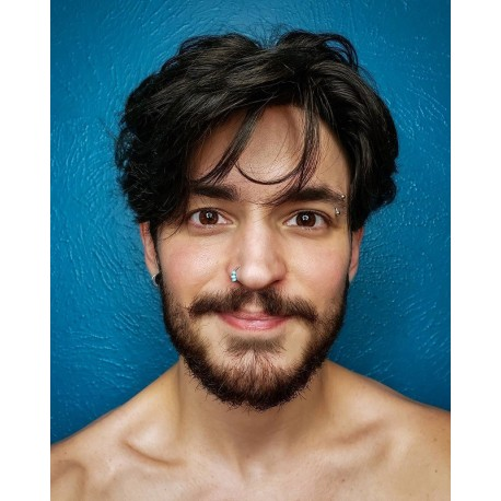 Prometheus Bald Men Hair Pieces en línea | Base de seda con encaje frontal | estilo lujoso