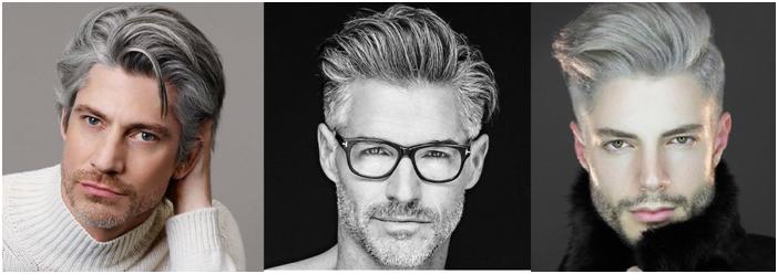 men's gray hair look