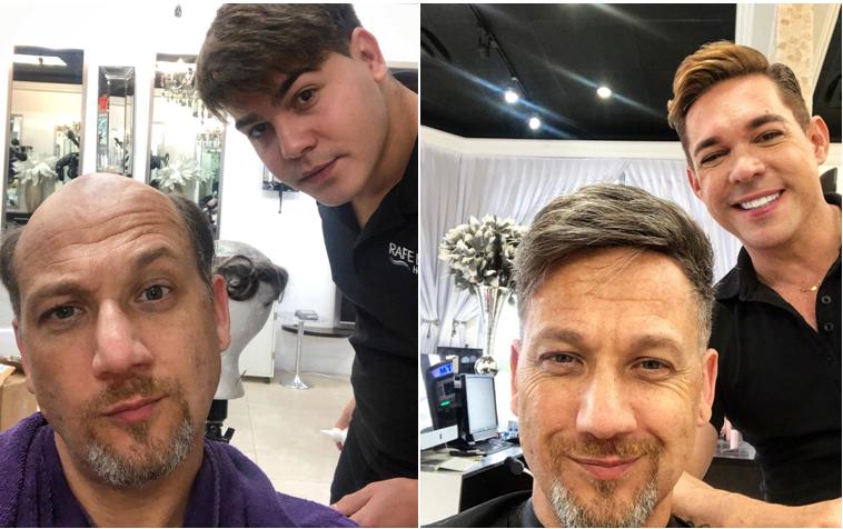 silver gray human hair toupee