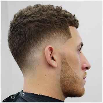 Mid fade men's hair